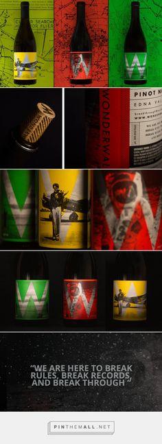 Break rules. Break records. Break through. Wonderwall wine label design by Makers & Allies (USA) - http://www.packagingoftheworld.com/2016/06/wonderwall-here-to-break-rules.html