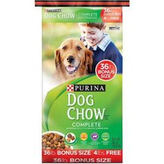 Purina Dog Chow Complete Adult Dog Food Bonus Size 36 lb. Bag
