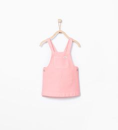 Image 1 of Front pocket dungaree dress from Zara