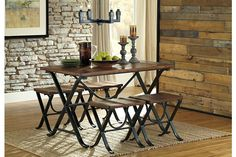 Medium Brown Freimore Dining Room Table and Stools (Set of 5) View 1.  I will be getting this!