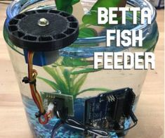 Betta Fish Feeder: 6 Steps (with Pictures) Arduino Stepper, 3d Printed Robot, Automatic Fish Feeder, Foam Cutter, Autodesk Inventor, Betta Fish Tank, Colorful Fish, Tropical Fish, Autos