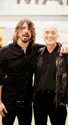 Dave Grohl & Jimmy Page.another pic.