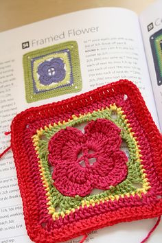 Ravelry: Project Gallery for Framed Flower pattern by Jan Eaton