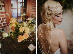 20's inspired bridal look