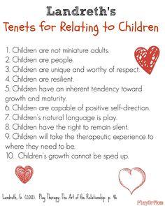 Landreth's Tenets for Relating to Children