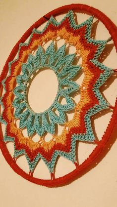 Mandala patron We are want to say thanks if you like to sh Crochet Rings, Crochet Diy, Crochet Home, Love Crochet, Motif Mandala Crochet, Crochet Motifs, Crochet Doilies, Doily Patterns, Crochet Patterns