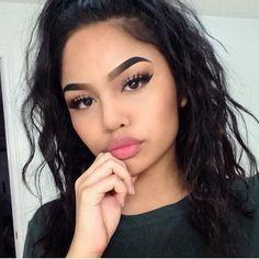 beauty, girl, and eyebrows image Skin Makeup, Beauty Makeup, Hair Beauty, Melissa Calma, Allure Beauty, Baddie Makeup, Baddie Hairstyles, Cute Makeup, Makeup Goals
