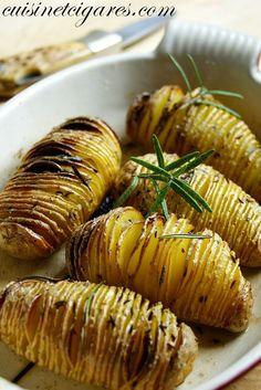 Pommes de terre suédoises {Hasselbackpotatis} et Ribbs caramélisés - Cuisine et Cigares