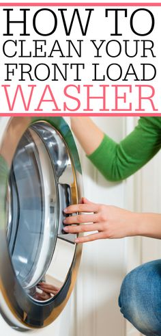 This is full of great tips for how to clean your front load washer. Plus the one EASIEST tip to keep it from smelling again! Check it out for easy front load washer cleaning. Cleaning Recipes, House Cleaning Tips, Deep Cleaning, Spring Cleaning, Cleaning Hacks, Cleaning Room, Cleaning Schedules, Kitchen Cleaning, Kitchen Hacks
