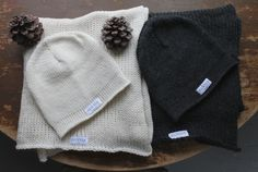 Beanie and scarf 100% wool. Keep warm don't catch cold.