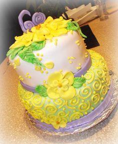 Swirls - 60th Birthday Cake