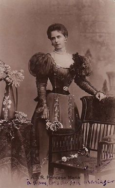 "Crown Princess Marie of Romania, circa late ""AL"" Princess Louise, Princess Alice, Princess Alexandra, Victoria Reign, Queen Victoria Prince Albert, Princess Victoria, Queen Mary, King Queen, 1890s Fashion"