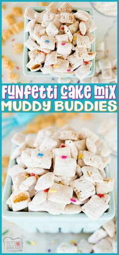 Funfetti Chex Mix is a sweet Recipes Using Fruit, Recipes With Few Ingredients, Homemade Cake Recipes, Easy Cookie Recipes, Sweet Recipes, Easy Recipes, Chex Mix Recipes, Snack Recipes, Dessert Recipes