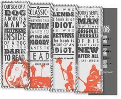 Bookmark Leave-Behind by J Sean Geary, via Behance