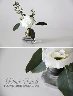 Turn Your Old Door Knobs Into Vases. brought to you by Little Vintage Rentals and Mandy Forlenza.