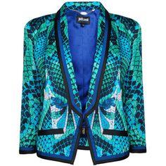 JUST CAVALLI Scale Print Shoulder Detail Jacket - Polyvore