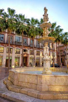Malaga street view, Spain by Eduardo Huelin on Creative Market