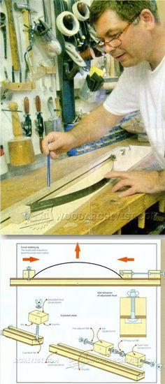 Curve Marking Jig - Marking Tips, Jigs and Techniques | WoodArchivist.com