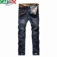 [ 20% OFF ] Cartelo Brand 2016 Mens New Nostalgic Famous Jeans Denim Trousers Fashion Men Straight Jeans Stitching Zipper Jeans Pants Skinny