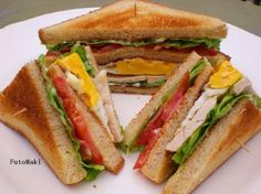 Club Sandwich - Kotikokki.net - reseptit Tasty, Yummy Food, Sandwiches, Club, Delicious Food, Paninis, Good Food