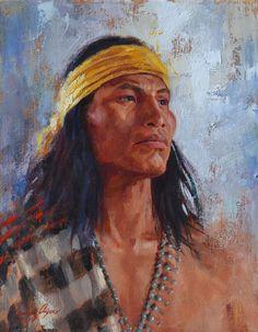 His Spirit Is Strong | Navajo | Native American Painting | James Ayers Studios