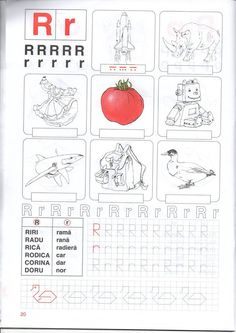 fise clasa pregatitoare Motor Skills Activities, Educational Activities, Activities For Kids, Letter Worksheets For Preschool, Preschool Writing, Alphabet Writing, Learning The Alphabet, Class Tree, Math For Kids