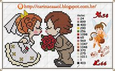 Wedding couple perler bead pattern by Carina Cassol -