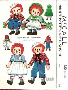 McCall Raggedy Ann and Raggedy Andy 1940