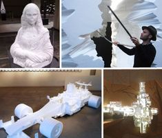 Recycling trash into pieces of art: 16 styrofoam sculptures