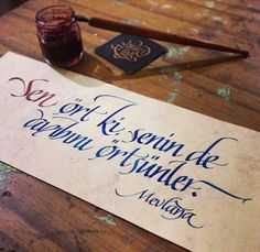 Calligraphy-Kaligrafi Niyazi Ünal Calligraphy Words, Caligraphy, Modern Calligraphy, Letter Art, Word Art, Texts, Typography, Writing, Alphabet