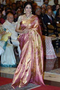Sridevi at the Padma Shri award ceremony #Bollywood #Fashion #Style
