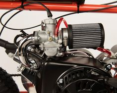 This AMF 215 has a Mikuni Stage 1 Kit with Stinger on it. see the kit