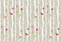 """Birdhouse"" fabric by Troismiettes, Kona® cotton, $18 per yard"