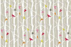"""Birdhouse"" fabric by Troismiettes, Kona® cotton, $18 per yard"