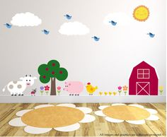 Farm Wall Decals Wall Decals Nursery Wall by BebeDivaBoutique