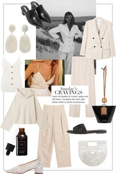 Sunday& Cravings: Monochrome Off-White Mode Outfits, Fashion Outfits, Womens Fashion, Fashion Trends, How To Have Style, My Style, Spring Summer Fashion, Winter Fashion, Mode Dope