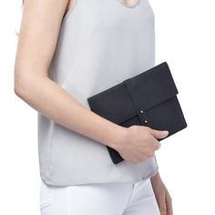 No matter where you go, pop your iPad inside our just-right leather sleeve for refined style coupled with thoughtful security. Pamper your newest mobile device in sumptuous pebbled Italian leather and a discreet gold pin closure. The freshly updated smooth entry and padded lining also ensure maximum tech protection.