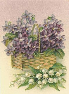 Violets and lily of the valley