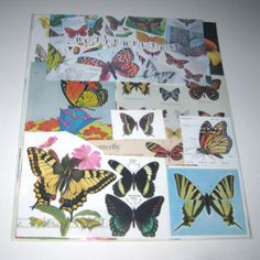 Butterflies and Moths Ephemera Pack 65 Pieces of Vintage Ephemera for Altered Art on Etsy, $11.95