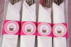 These adorable napkin rings will be perfect addition to any party! This set of 12 napkin rings is printed on high quality cardstock. The tops are mounted to the band with foam to give a 3-D look. Just