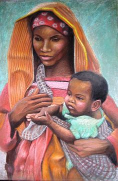 African Mother and Child ~ Janet McGrath