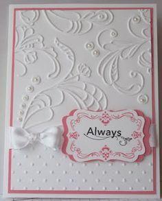 Stamps:  Four Frames, Always Elegant  Ink:  Regal Rose, Basic Black  Cardstock:  Whisper White, Regal Rose