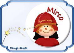 Button Feuerwehr von Jasuki auf DaWanda.com
