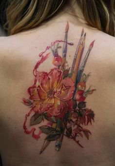 Tattoo 21. Pointed for the paintbrushes