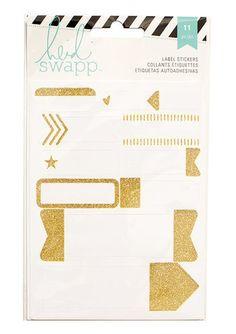 Heidi Swapp - Memory Planner - Gold Label Stickers