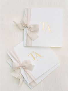 Pretty ribbon-tied programs: http://www.stylemepretty.com/2016/06/27/a-fresh-take-on-an-industrial-wedding-with-serious-pops-of-color/ | Photography: Michelle Boyd Photography - http://www.michelleboydphotography.com/