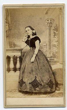 civil war era dress - lovely trim Photo by Bradley