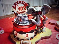 Alabama Crimson Tide-Themed Birthday Cake Is Gumptastic