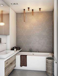 35 Modern Bathroom Decor Ideas Match With Your Home Design Style Bathroom design,Modern style,design ideas. Modern Bathroom Decor, Bathroom Interior Design, Bathroom Lighting, Bathroom Vintage, Bathroom Grey, Bathroom Designs, Small Bathroom With Tub, Cool Bathroom Ideas, Modern Small Bathroom Design