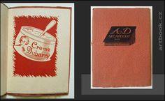 Novinky antikvariátu na artbook.cz Grafické menu - SČUG Hollar, dřevoryty František Kobliha. - 1933